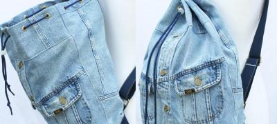 Порядок пошива рюкзаков из старых джинсов своими силами
